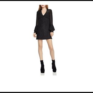 BCBGeneration  Shirred Bell Sleeves Party Dress